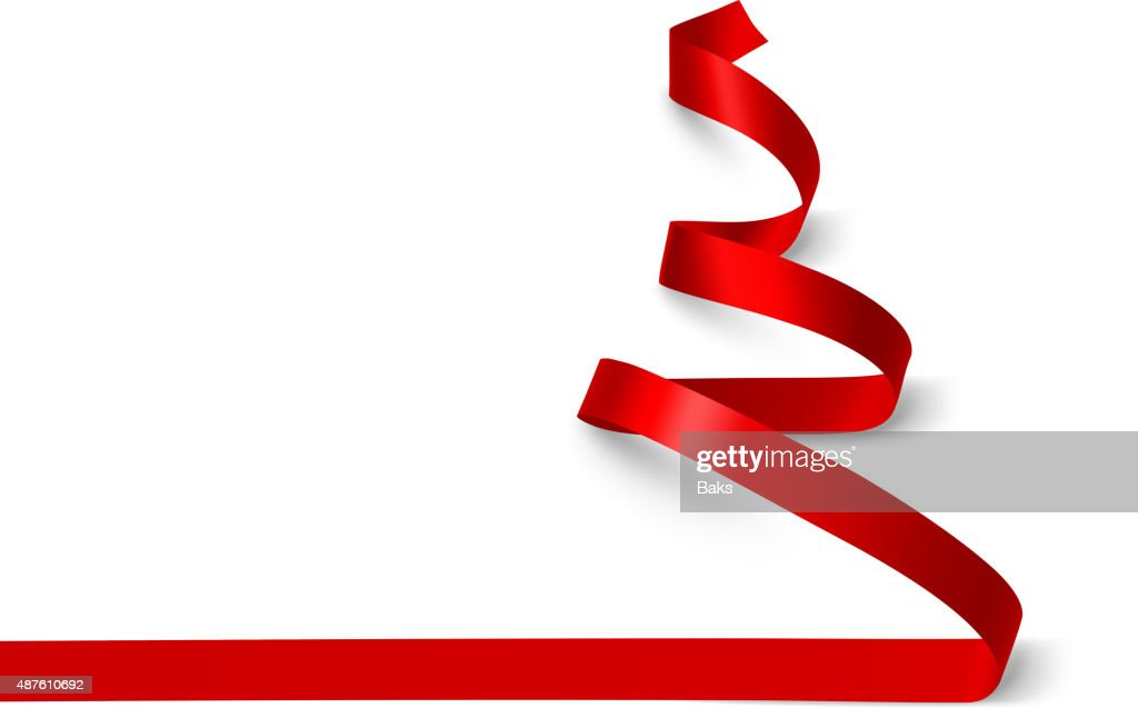 Christmas Tree ribbon. Vector