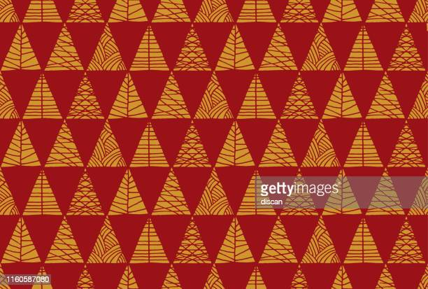 christmas tree seamless pattern background. - christmas paper stock illustrations