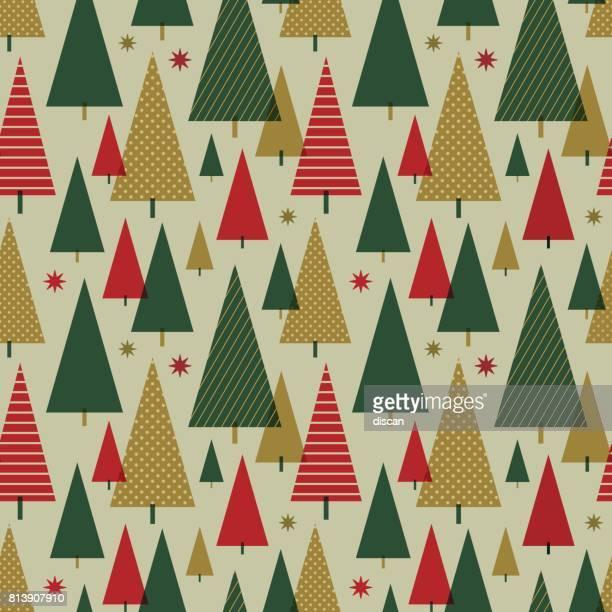 Weihnachtsbaum nahtlose Muster.