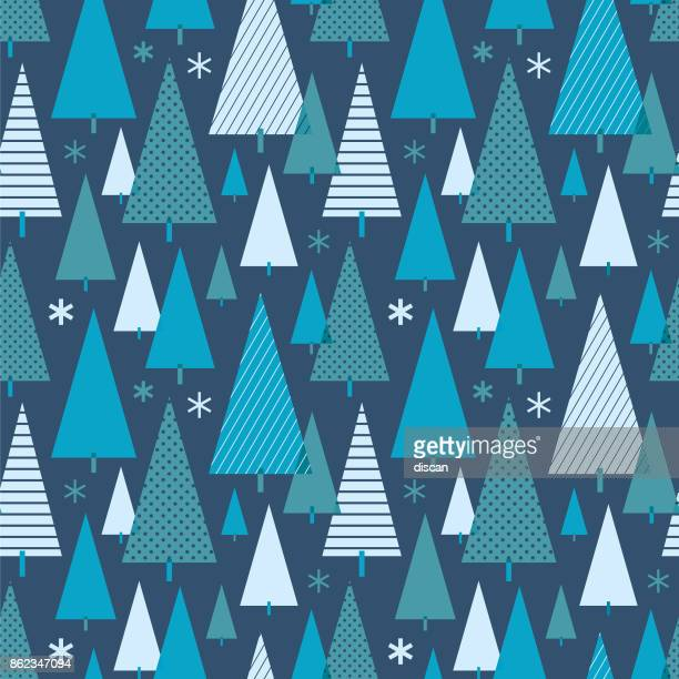 christmas tree seamless pattern. - wrapping paper stock illustrations