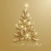 Christmas tree. Seasons Greeting.