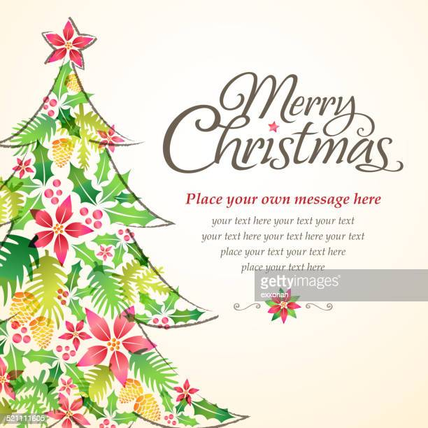 Christmas Tree Shape form Floral Element