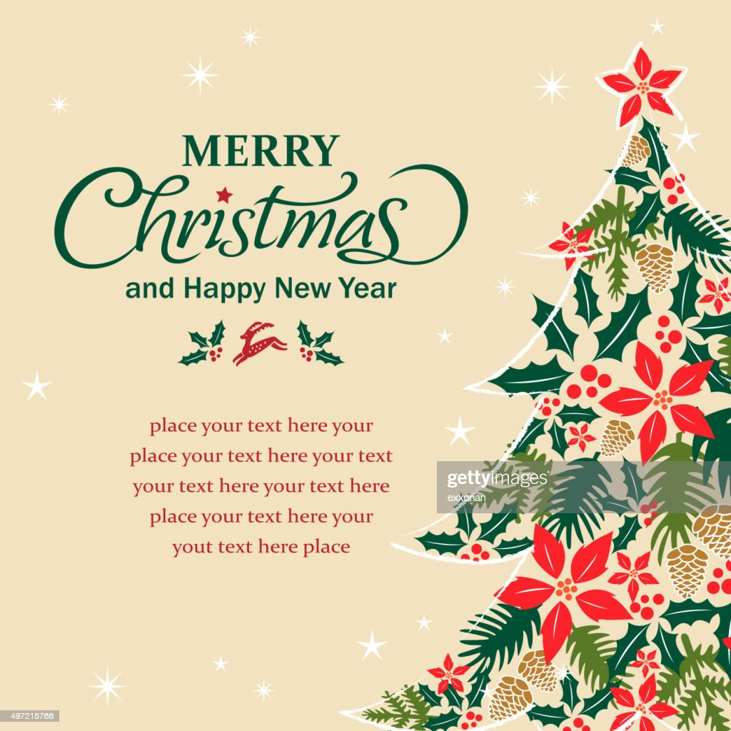 Christmas tree shape form floral elements