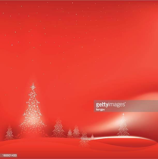 christmas tree - aurora borealis stock illustrations