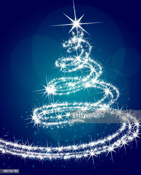 christmas tree - sparks stock illustrations, clip art, cartoons, & icons