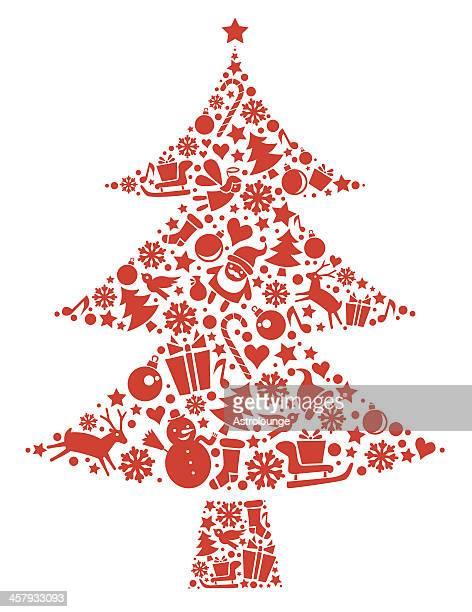 クリスマスクリスマスツリー - クリスマスマーケット点のイラスト素材/クリップアート素材/マンガ素材/アイコン素材