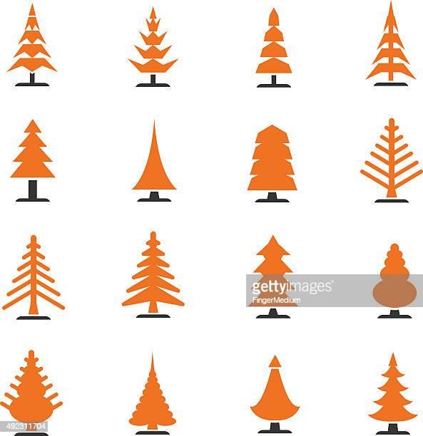 Christmas Tree Clip Art Outline Vektorgrafiken Und Illustrationen