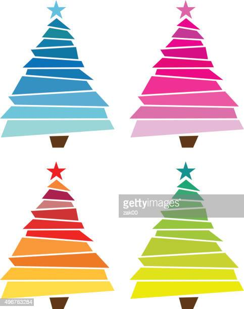 ilustraciones, imágenes clip art, dibujos animados e iconos de stock de árbol de navidad - aplique arte de la costura