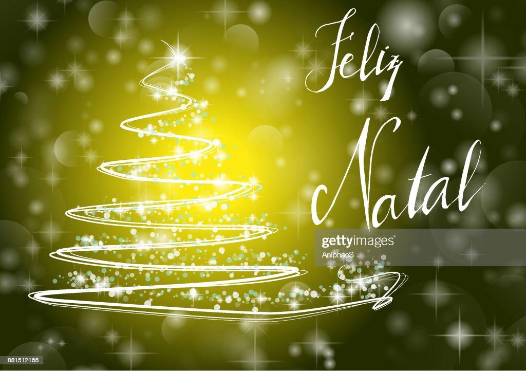 Weihnachtsbaum Frohe Weihnachten In Portugiesischer Sprache Feliz ...