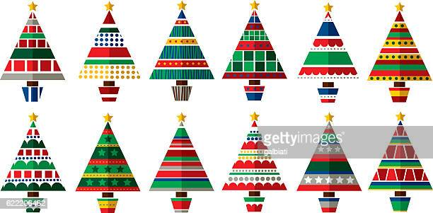 christmas trees - pine wood material stock illustrations, clip art, cartoons, & icons