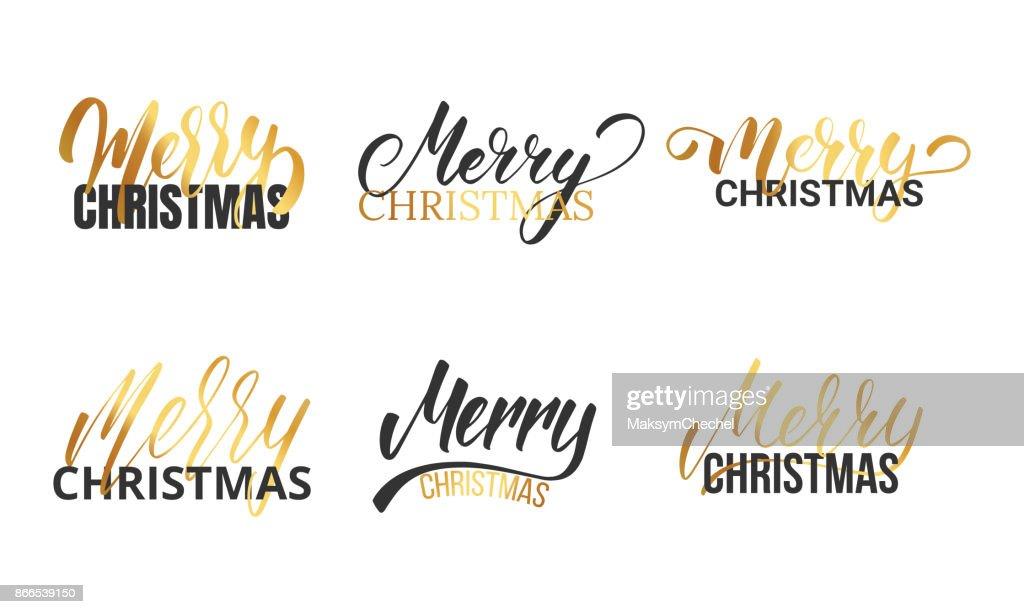 weihnachten typografische logos legen f r weihnachtsmotiv. Black Bedroom Furniture Sets. Home Design Ideas