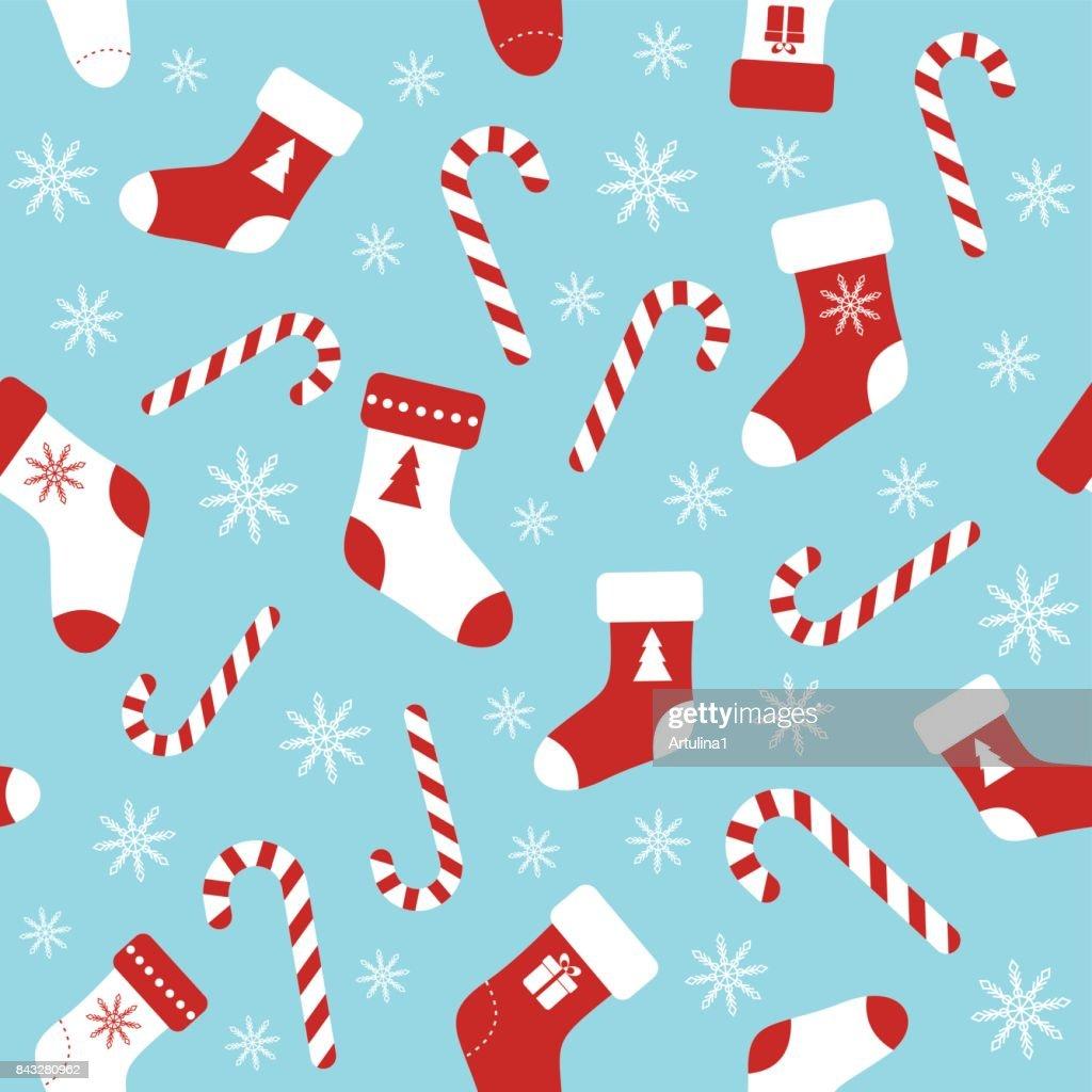 Weihnachten Vektor Blau Musterdesign Mit Zuckerstangen Weihnachten ...