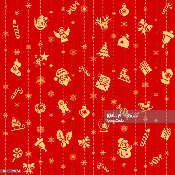 クリスマスのベクトルのシームレス パターン - クリスマスマーケット点のイラスト素材/クリップアート素材/マンガ素材/アイコン素材