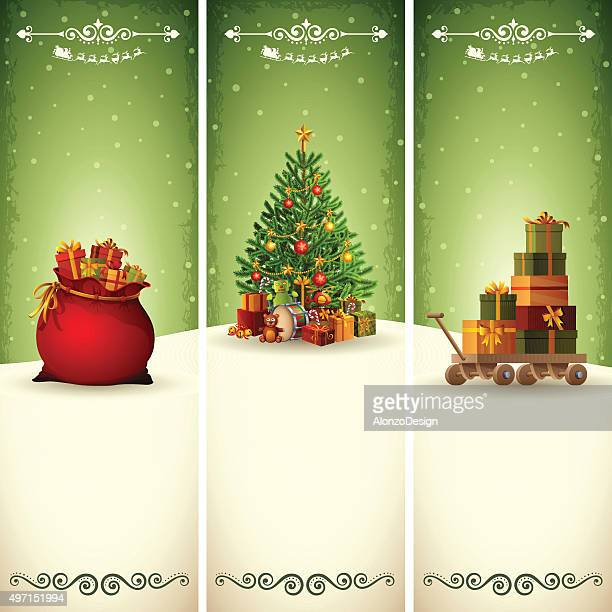 christmas vertical banners - vertical stock illustrations