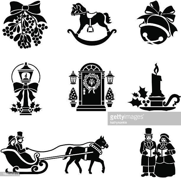 Icone di Natale in stile vittoriano