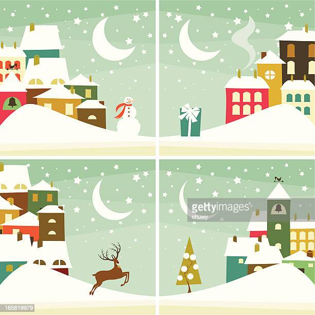Christmas village fondos