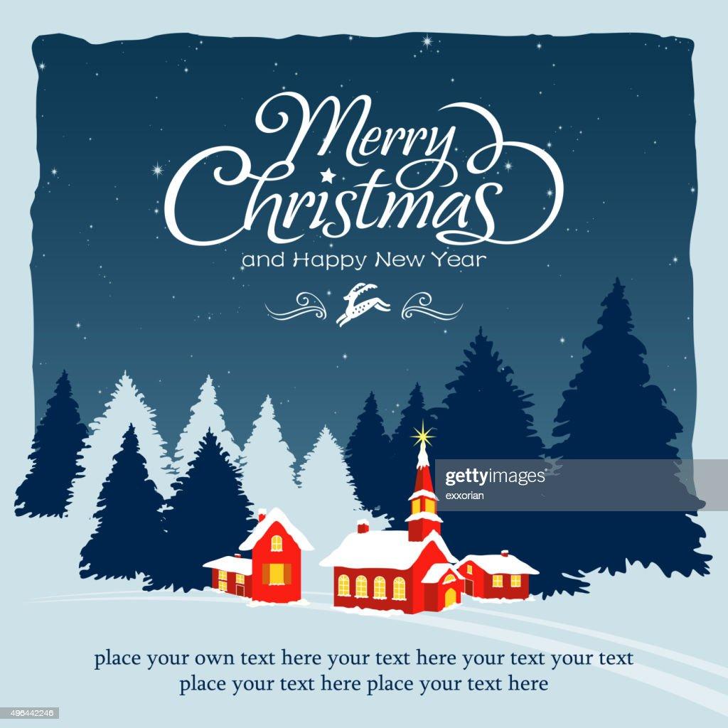 Christmas village tranquil scenes