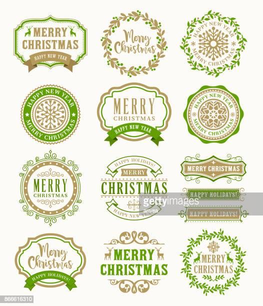 Badges Vintage de Noël