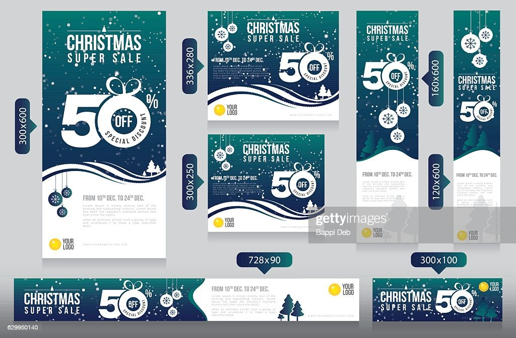 Christmas Website Advertising Banner Design