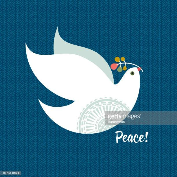christmas where - dove bird stock illustrations
