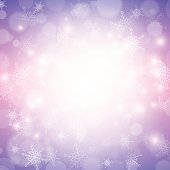 christmas winter background bokeh light with snowflake