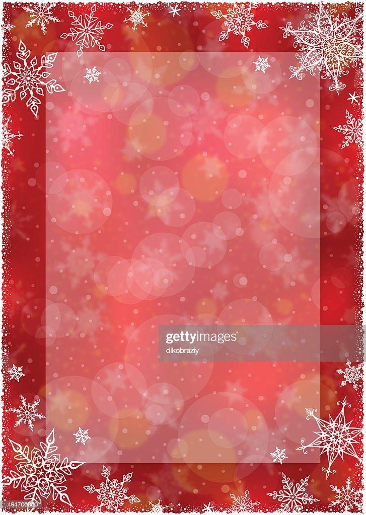 Christmas Winter Frame - Illustration
