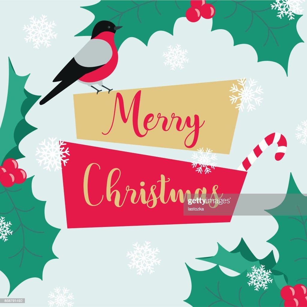 Weihnachten Winter Neujahr Banner Vorlage Mit Geometrischen Label ...