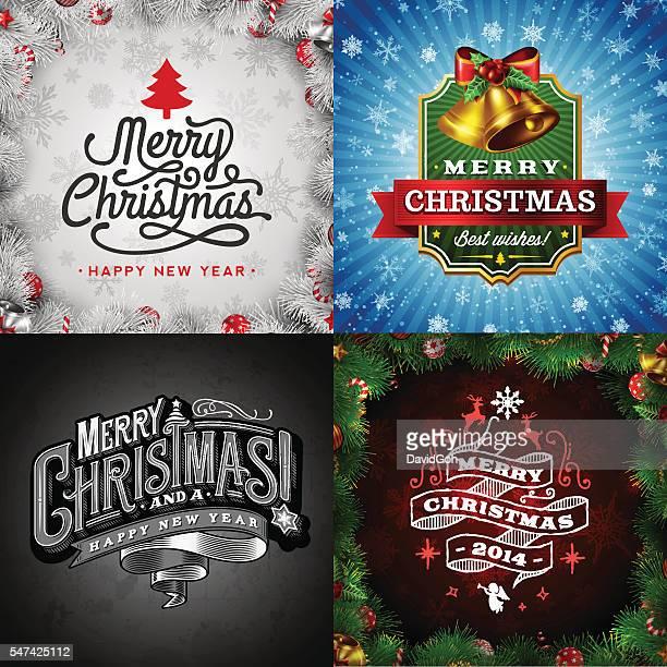 christmas wishes set - Christmas Slogans
