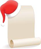 Christmas Wishlist (Santa Hat and Scroll)
