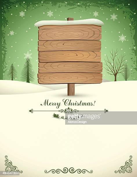 Panneau en bois de Noël