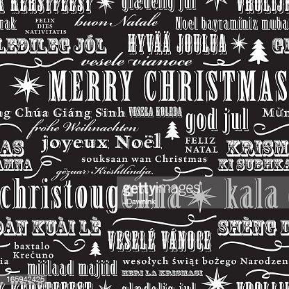 christmas words mulitlanguage repeat seamless pattern background vector art getty images