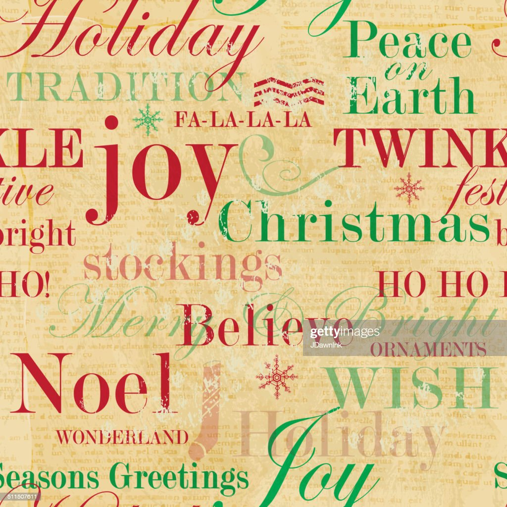 Christmas Words.Christmas Words Repeat Seamless Pattern Background High Res