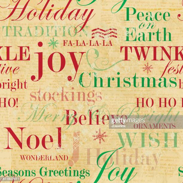 Christmas words repeat seamless pattern background