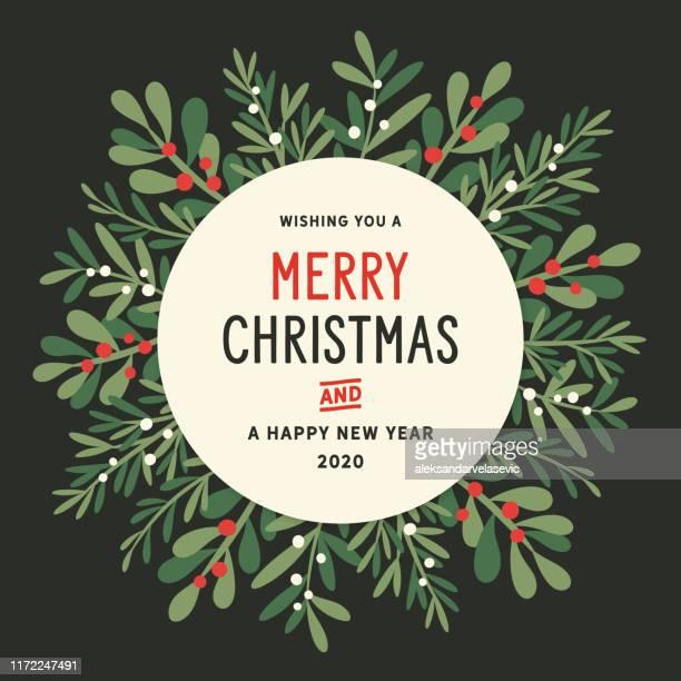 christmas wreath background - wreath stock illustrations