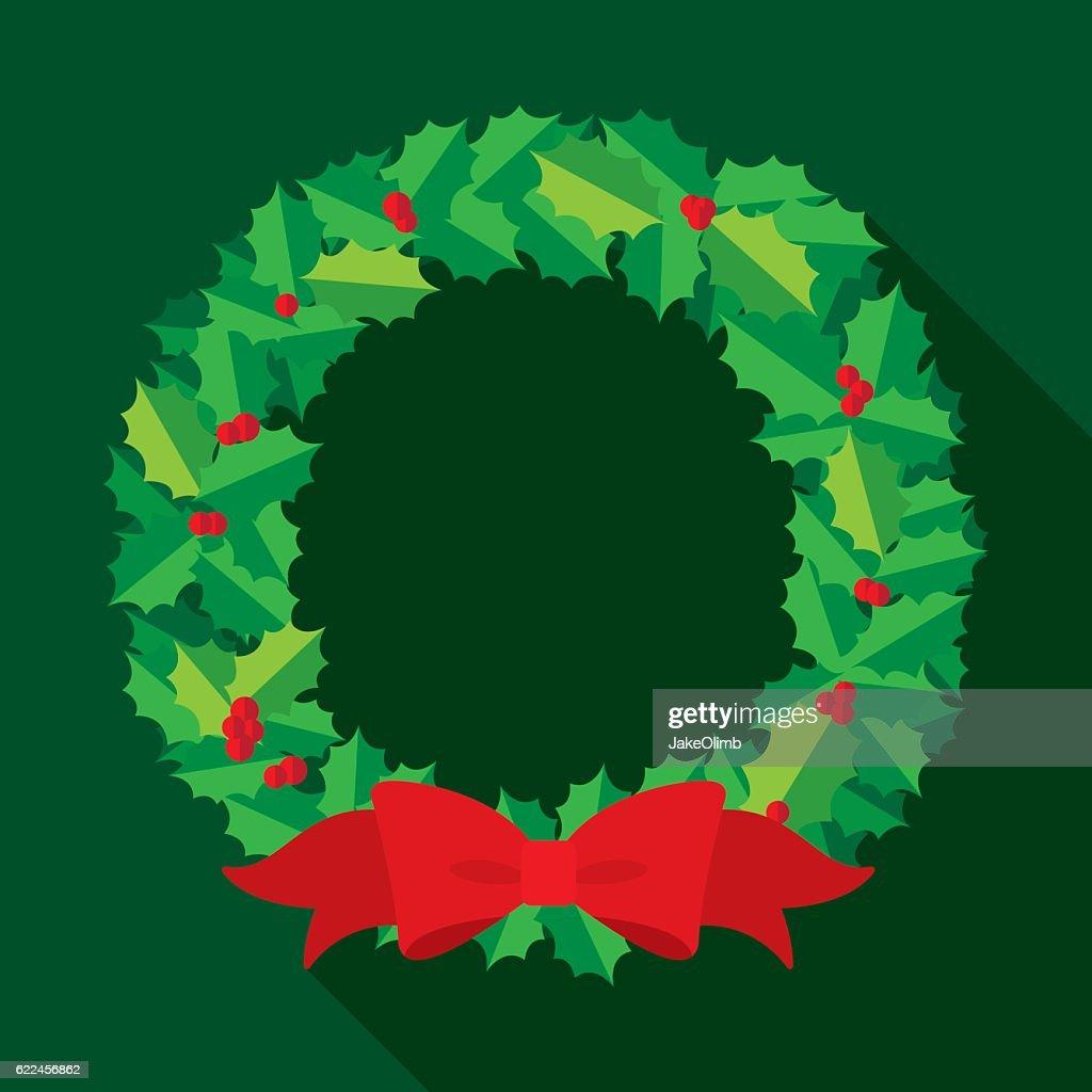 Christmas Wreath Flat