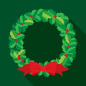 Christmas Wreath Flat