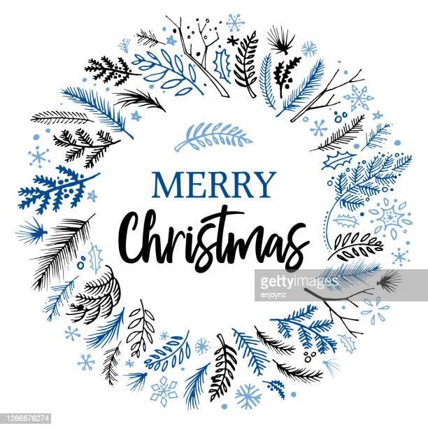クリスマスリーススケッチベクトル - クリスマスマーケット点のイラスト素材/クリップアート素材/マンガ素材/アイコン素材