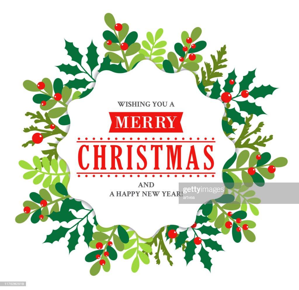 Christmas Wreath : stock illustration