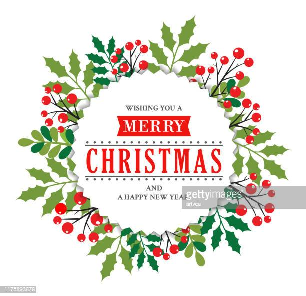 christmas wreath - wreath stock illustrations