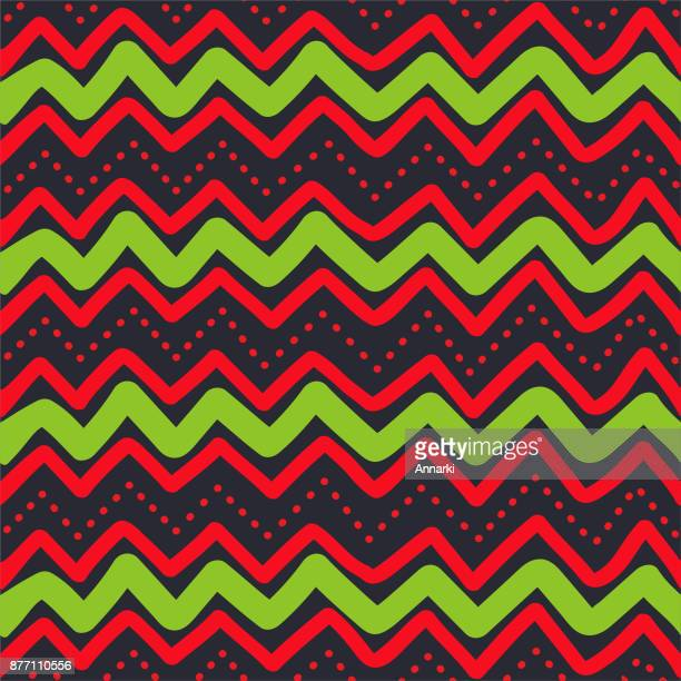 christmas zigzag seamless pattern - national holiday stock illustrations, clip art, cartoons, & icons