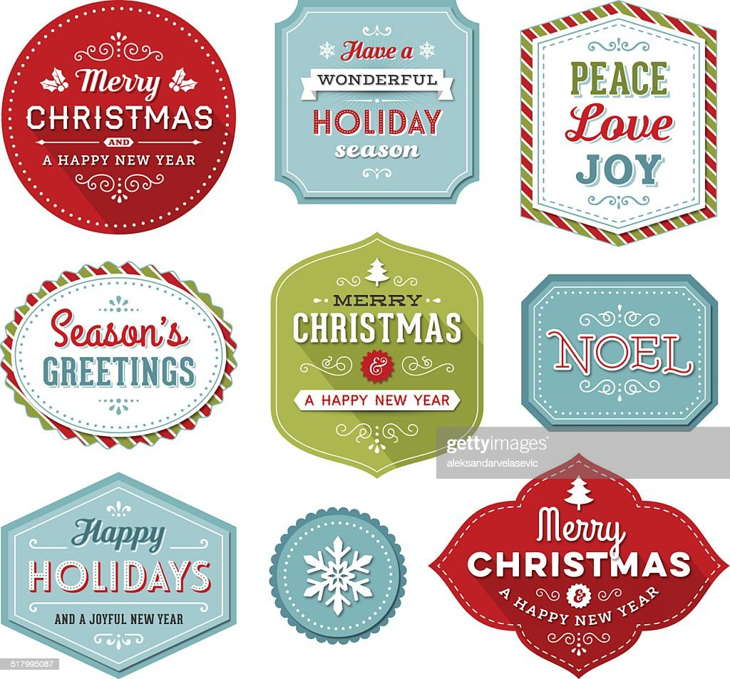 Christmas-Holiday Labels : stock illustration