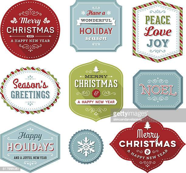 Christmas-Holiday Labels