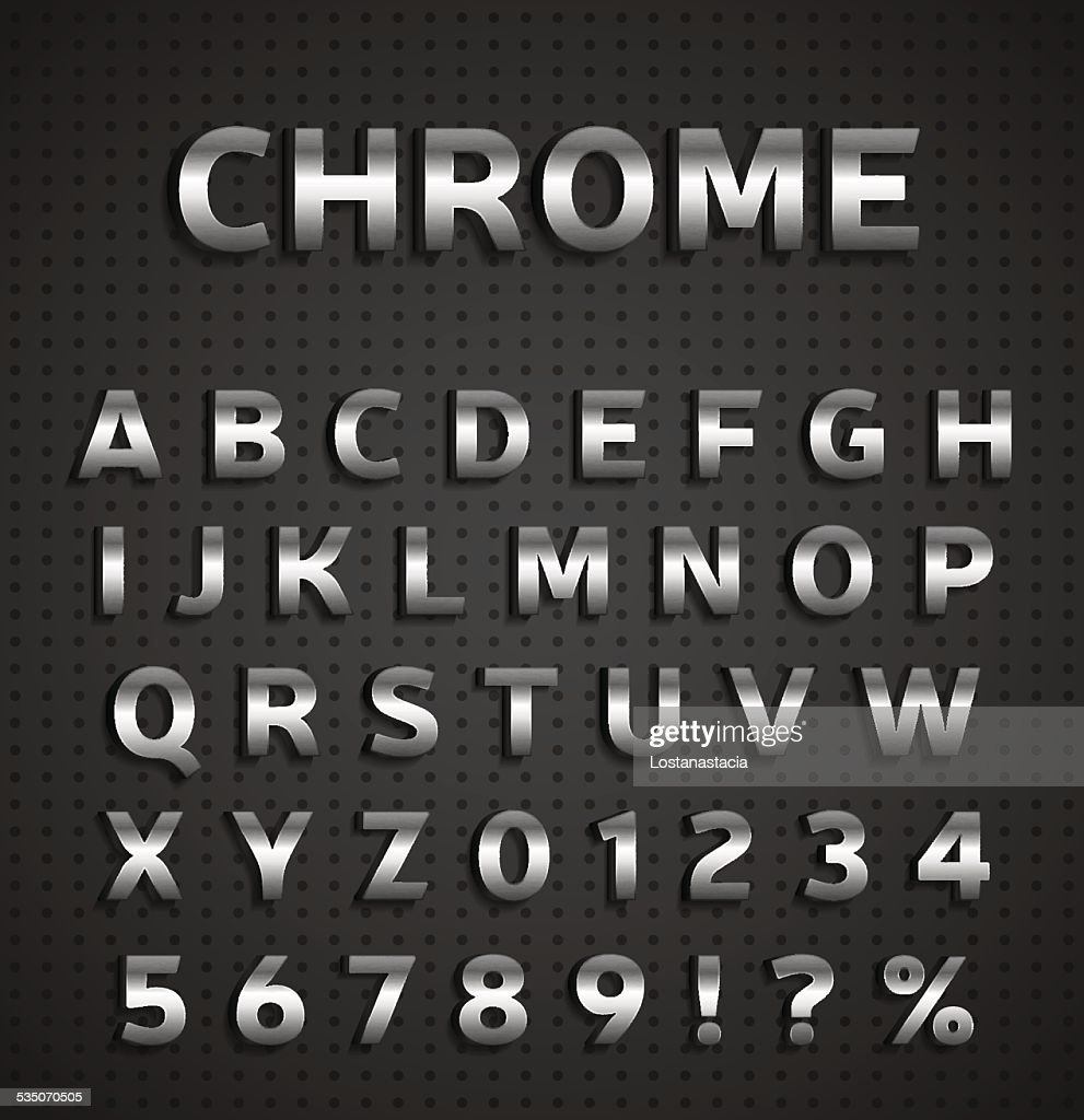 Chrome alphabet set