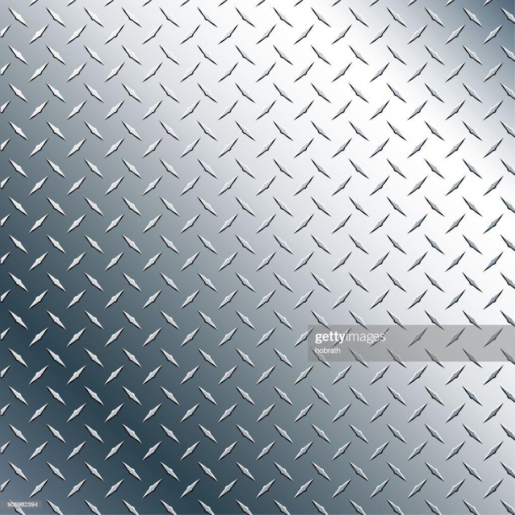 Chrome Diamond Plate Realistic Vector Graphic Illustration