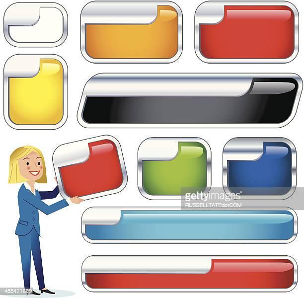 chrome left inset panels - chrome stock illustrations, clip art, cartoons, & icons