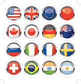 Chrome round most popular flag icons