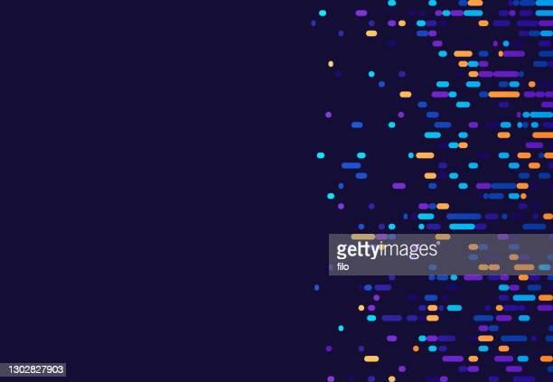 chromosome dna data abstract background - genetic mutation stock illustrations