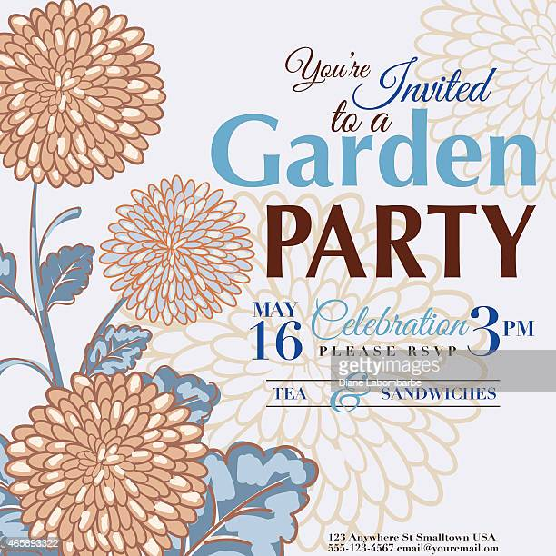 Chrysanthemum Design Garden Party Invitation