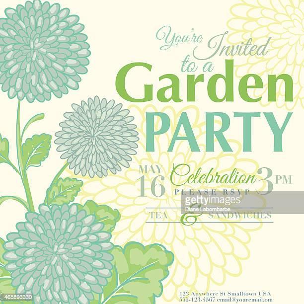 Chrysanthemum Design Garden Party Invitation
