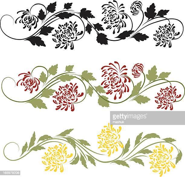 菊のオーナメント - キク科点のイラスト素材/クリップアート素材/マンガ素材/アイコン素材